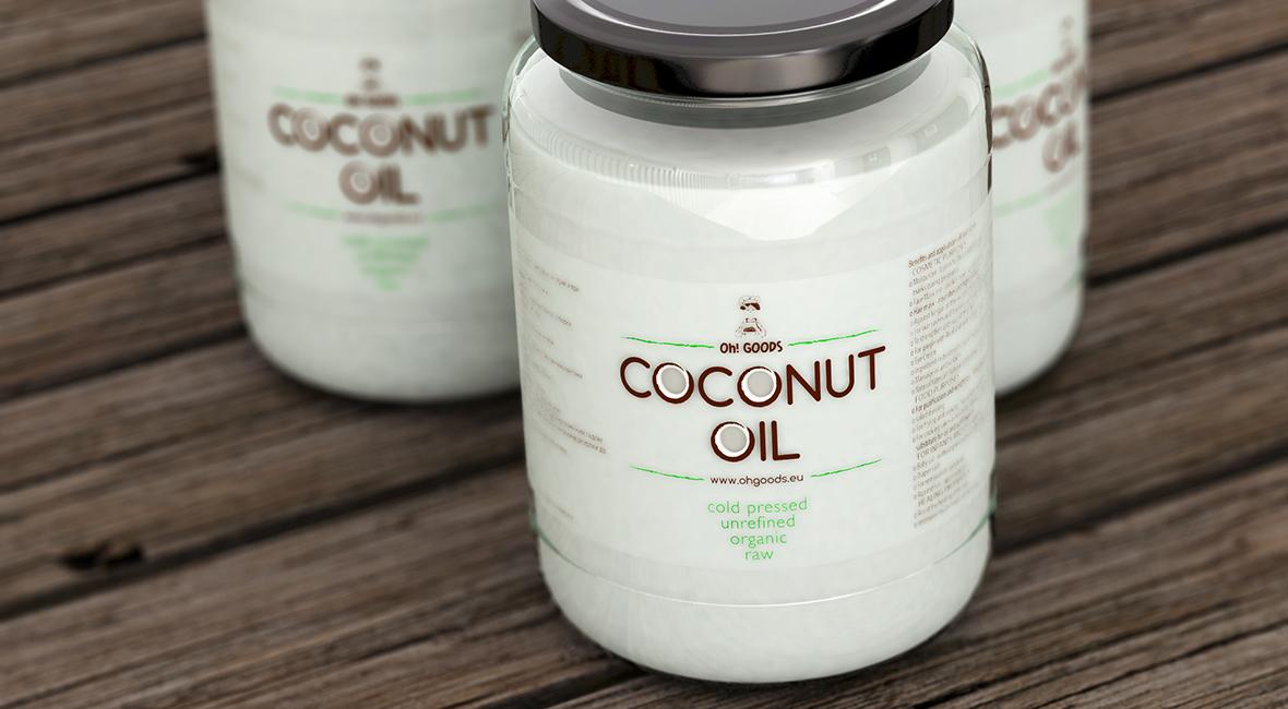 studio dreamtime coconut oil package design