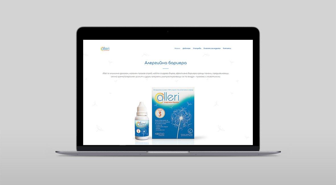 alleri website design