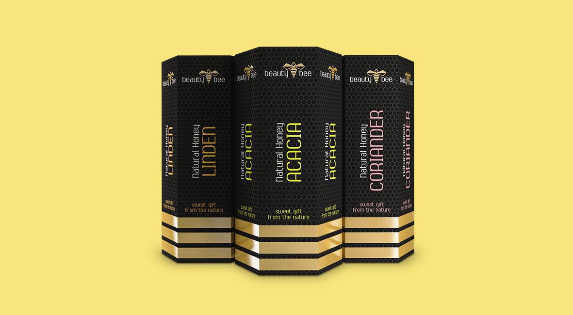 honey packaging design by Studio Dreamtime