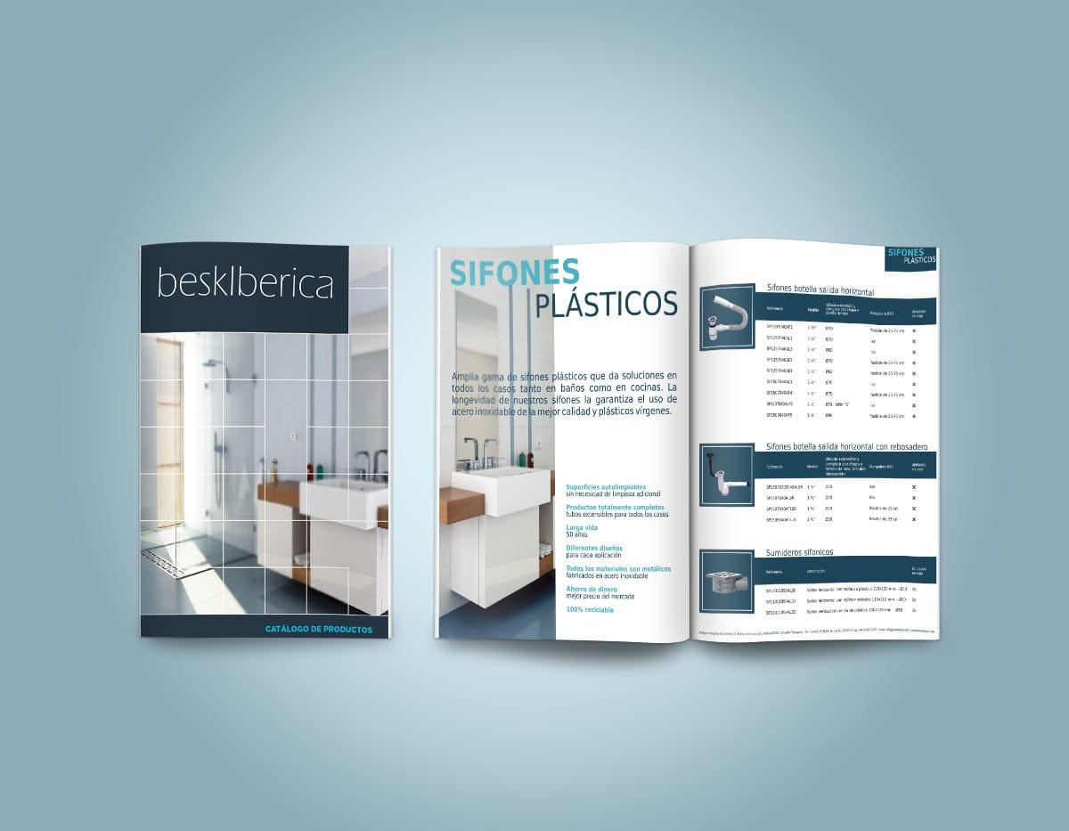 Дизайн на продуктов каталог за BeskIberica - Студио Дриймтайм