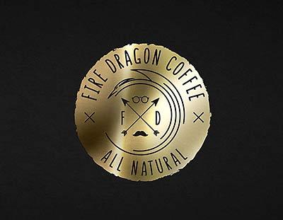 Лого дизайн за чай и кафе Fire Dragon - Студио Дриймтайм
