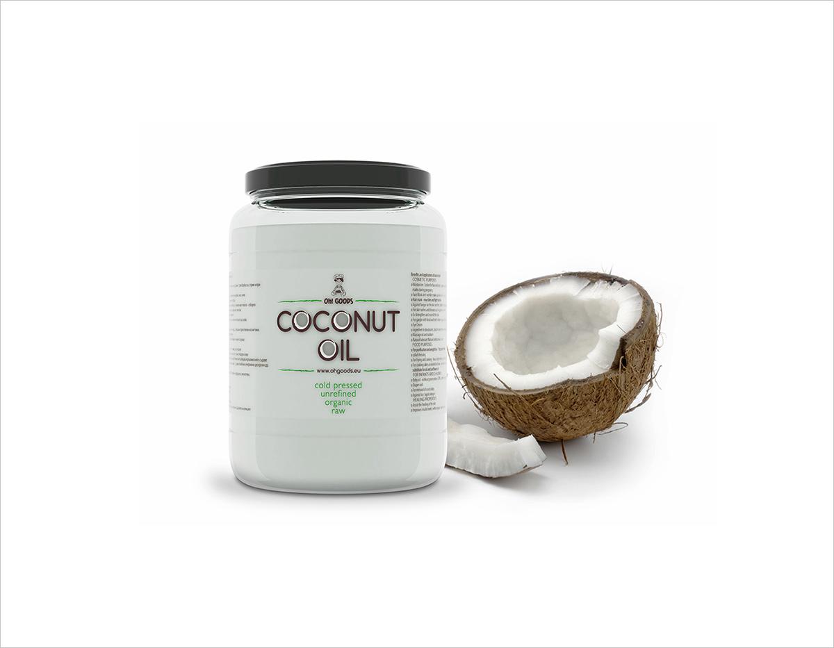 Дизайн на етикет за кокосово масло - Студио Дриймтайм