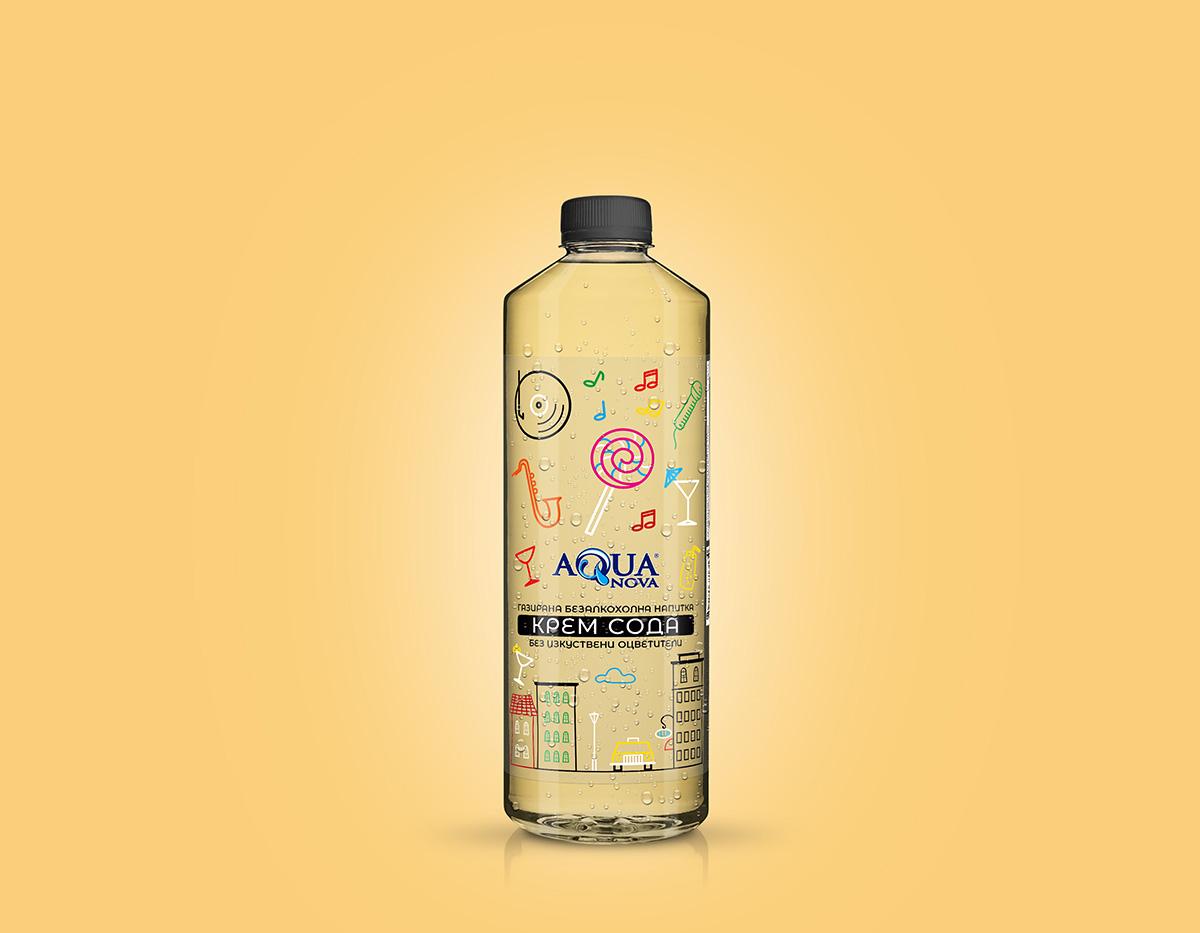 дизайн на етикети за безалкохолни напитки рекламна агенция Студио Дриймтайм